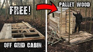 Video Building an Off Grid Cabin using Free Pallet Wood: A Wilderness Project MP3, 3GP, MP4, WEBM, AVI, FLV November 2018