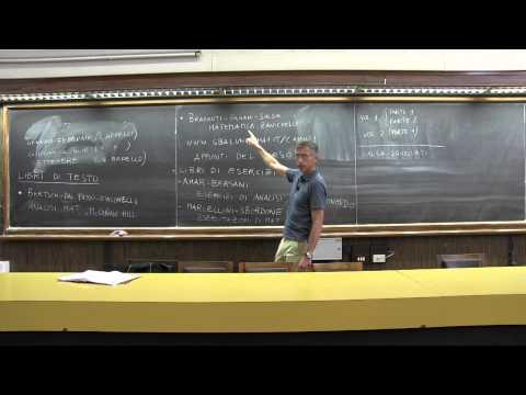 Analisi Matematica 1, Prof. Camilli - lezione 01 (21 Sett. 2015)