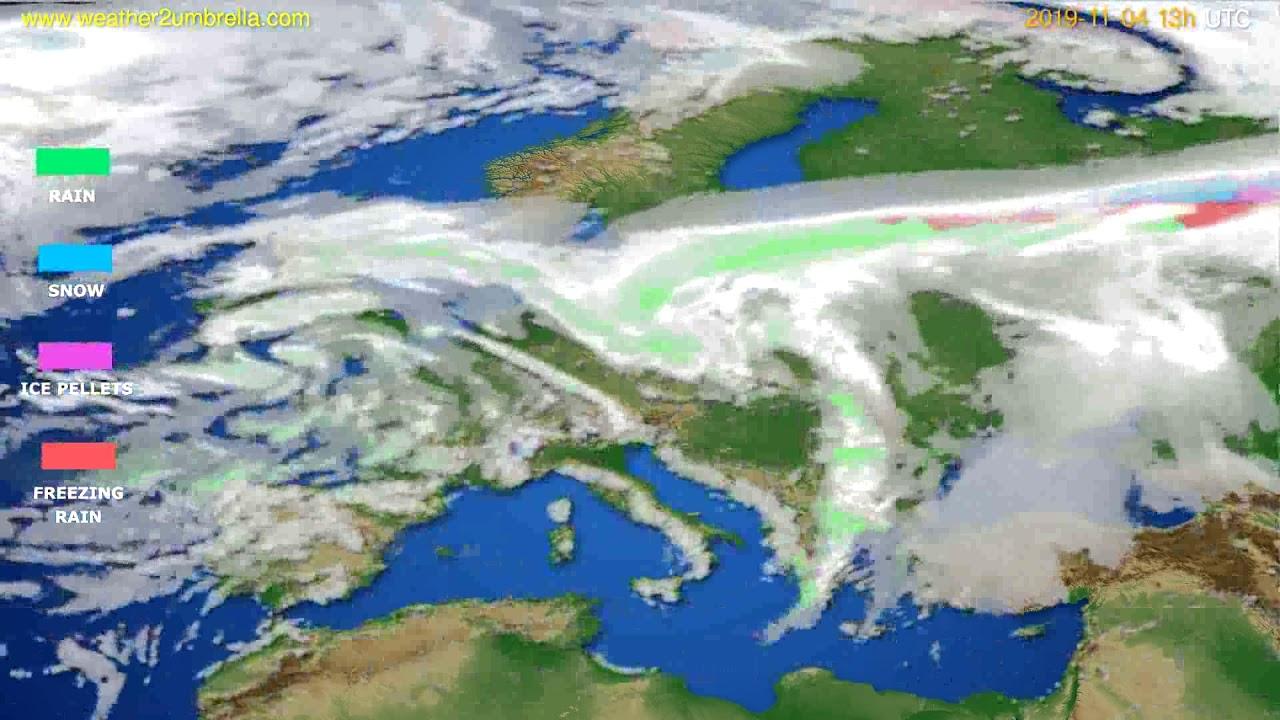 Precipitation forecast Europe // modelrun: 00h UTC 2019-11-03