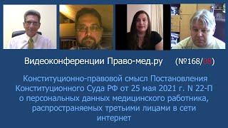 Конституционный Суд о персональных данных медицинского работника, распространяемых в сети интернет