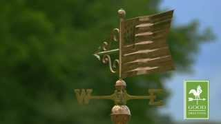 American Flag Weathervane - Polished Copper - Good Directions