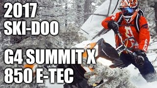9. TEST RIDE: 2017 Ski Doo G4 Summit X 850 E-TEC
