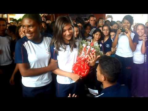 Pedido de namoro perfeito de Daniel para Adriana (13/09/2013) C.E. Nascimento de Moraes