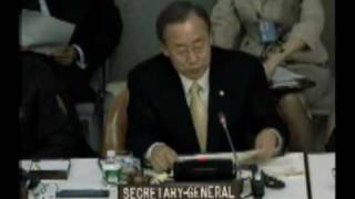 UN Secretary-General Ban Ki-moon Addresses Khmer Rouge Tribunal Pledging Conference