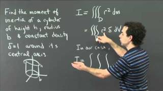 Moment Of Inertia Of A Cylinder | MIT 18.02SC Multivariable Calculus, Fall 2010