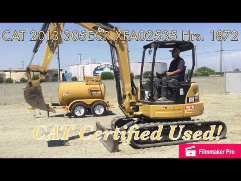 CATERPILLAR TRACK EXCAVATORS 305E CR equipment video iYFtNiGy8Q0