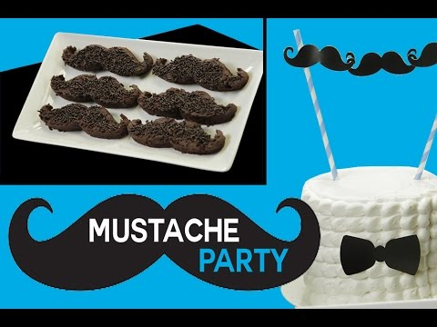 MUSTACHE Party Ideas - Brownies, Tuxedo Cake DIY & Cupcakes   Sweet Styling with Elise Strachan