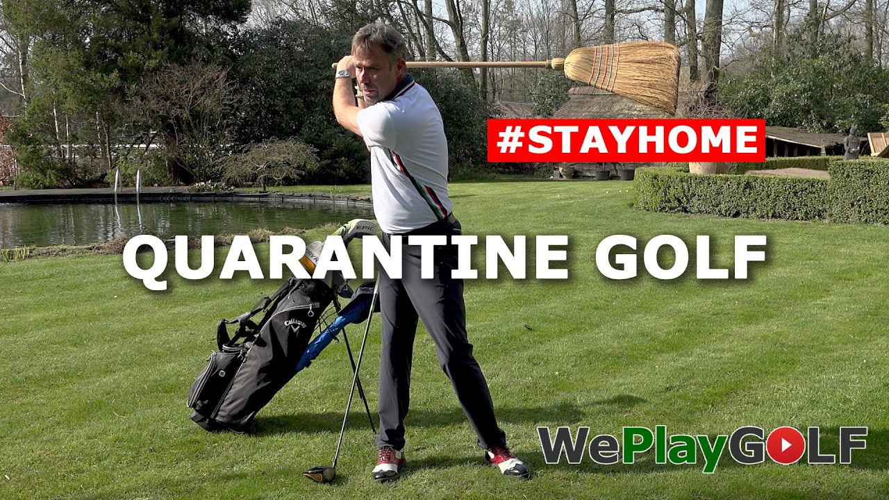 Quarantine Golf - Practice your golf swing at home during Corona Lockdown