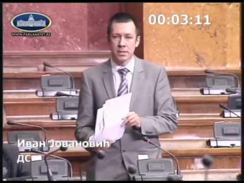 Иван Јовановић - посланичко питање за министарку саобраћаја и Владу
