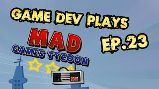 Playing Mad Games Tycoon from the perspective of a tycoon game developer. In part 23 of this let's play series we take a look at the good and bad of Mad Games Tycoon and have some good fun and banter in the process. I previously played Game Dev Tycoon and will make comparisons based on that.