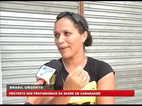 [BRASIL URGENTE PE] Protesto dos profissionais da saúde em Camaragibe