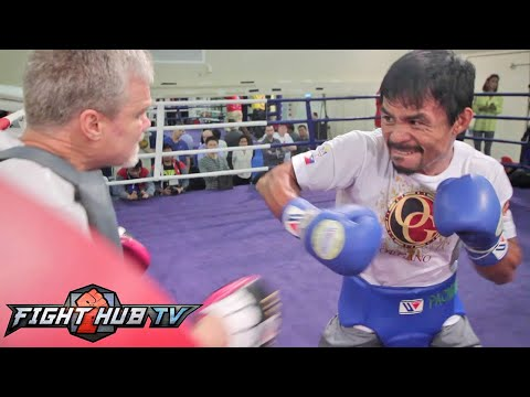 Pacquiao vs. Algieri- Manny Pacquiao final workout before Algieri fight- Fast, Ready to go
