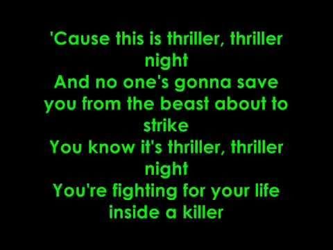 glee thriller/heads will roll lyrics
