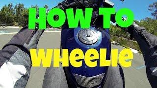 8. How To Wheelie A Motorcyle (Ninja 250R)