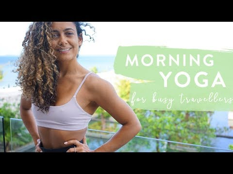 30 MINUTE MORNING YOGA (For busy Travellers) | Real Time | Shona Vertue