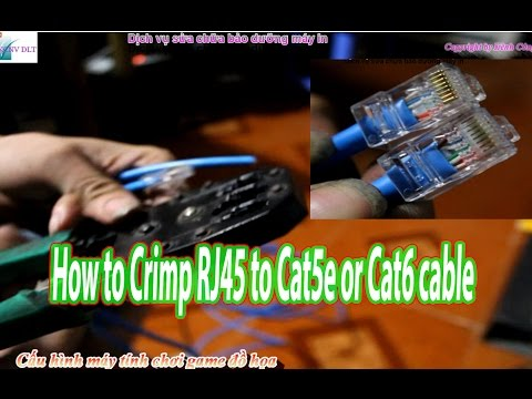 How To use a RJ RJ RJ Crimping Tool for CAT  CAT cable Ethernet PC Plugs