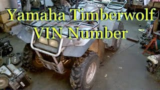 5. HOW TO FIND YAMAHA TIMBERWOLF VIN NUMBER