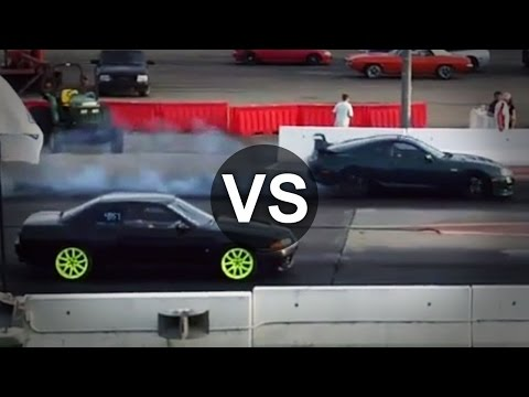 Toyota Supra Twin Turbo Vs Nissan Skyline GTR R32 Drag Race