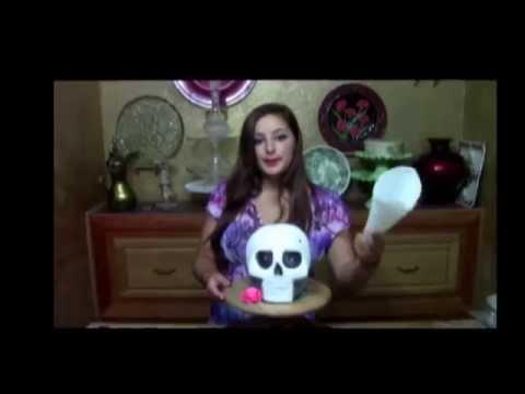 Day of the Dead Skull Cake- Dia De Los Muertos