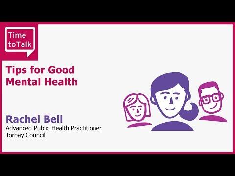 World Mental Health Day Event - Rachel Bell Tips for Good Mental Health