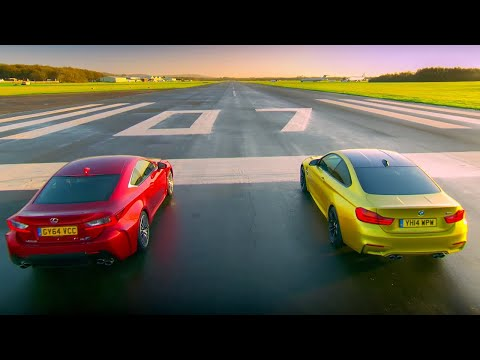 BMW M4 Coupé vs Lexus RC F | Top Gear