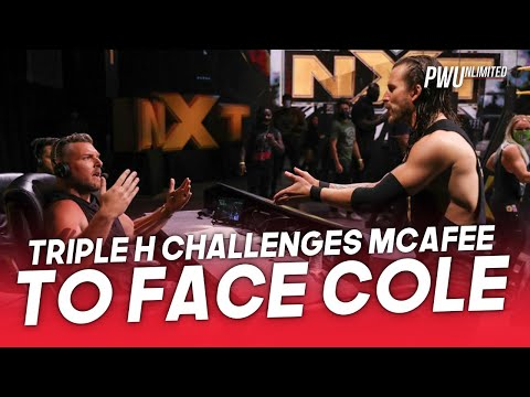 Triple H Challenges Pat McAfee To Face Adam Cole At TakeOver