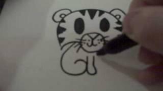 Видео: как нарисовать маленького тигренка ребенку