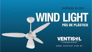 Ventilador de Teto Wind Light com Pás de Plástico