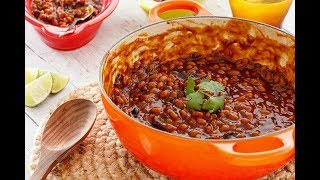 Looking for a simple baked beans recipe with a little something extra? How about BBQ baked beans on the grill?! Check it out!