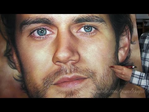 Drawing Superman - Henry Cavill Pastel Portrait