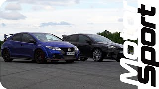 Drag race : Ford Focus RS VS Honda Civic Type-R by Motorsport Magazine