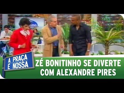 A Praça É Nossa - Alexandre Pires se diverte com Zé Bonitinho