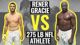 Download Video Rener Gracie Spars with 275 lb NFL Athlete (Gracie University Narrated Sparring) MP3 3GP MP4