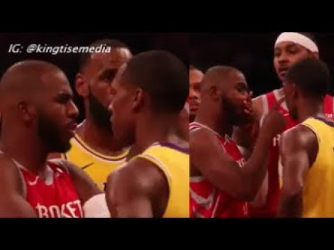 Rajon Rondo DID Spit On Chris Paul & Camera Catches It During Lakers Rockets, Brandon Ingram Fight
