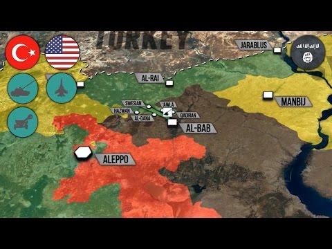 14 ноября 2016 года. Военная обстановка в Сирии. Протурецкие силы возле Эль-Баба. Русский перевод. (видео)