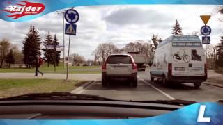 Rajder - Toruń trasy egzaminacyjne - zawracanie na rondzie Pokoju Toruńskiego - Prawo jazdy Toruń