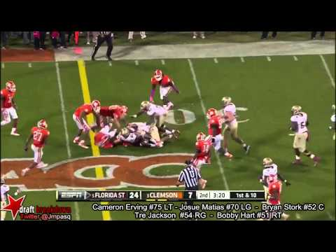 Cameron Erving vs Clemson 2013 video.