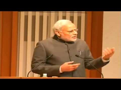 Japan - The Prime Minister, Shri Narendra Modi delivering the keynote address at Business Luncheon, in Tokyo, Japan on September 01, 2014. The Luncheon was hosted by Nippon Keidanren; Japan Chamber...