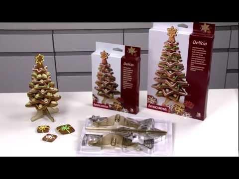 Видео Формочки для печенья из металла Tescoma Рождественская елка большая DELICIA, набор формочек Tescoma 631418