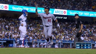 Eddie Rosario collects three hits in four at-bats against the Dodgers, crushing a solo home run and notching a pair of RBI doublesCheck out http://MLB.com/video for more!About MLB.com: Former Commissioner Allan H. (Bud) Selig announced on January 19, 2000, that the 30 Major League Club owners voted unanimously to centralize all of Baseball's Internet operations into an independent technology company. Major League Baseball Advanced Media (MLBAM) was formed and charged with developing, building and managing the most comprehensive baseball experience available on the Internet. In August 2002, MLB.com streamed the first-ever live full length MLB game over the Internet when the Texas Rangers and New York Yankees faced off at Yankee Stadium. Since that time, millions of baseball fans around the world have subscribed to MLB.TV, the live video streaming product that airs every game in HD to nearly 400 different devices. MLB.com also provides an array of mobile apps for fans to choose from, including At Bat, the highest-grossing iOS sports app of all-time. MLB.com also provides fans with a stable of Club beat reporters and award-winning national columnists, the largest contingent of baseball reporters under one roof, that deliver over 100 original articles every day. MLB.com also offers extensive historical information and footage, online ticket sales, official baseball merchandise, authenticated memorabilia and collectibles and fantasy games.Major League Baseball consists of 30 teams split between the American and National Leagues. The American League consists of the following teams: Baltimore Orioles; Boston Red Sox; Chicago White Sox; Cleveland Indians; Detroit Tigers; Houston Astros; Kansas City Royals; Los Angeles Angels ; Minnesota Twins; New York Yankees; Oakland Athletics; Seattle Mariners; Tampa Bay Rays; Texas Rangers; and Toronto Blue Jays. The National League, originally founded in 1876, consists of the following teams: Arizona Diamondbacks; Atlanta Braves; Chica