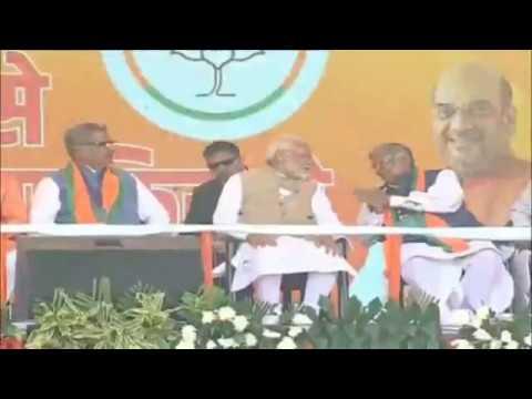 PM Shri Narendra Modi addresses public meeting in Bhilwara, Rajasthan