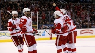 Thomas Tatar pays tribute to his father who had passed away the day before. The Detroit Red Wings forward gets the puck in front and rips it past Los Angeles...