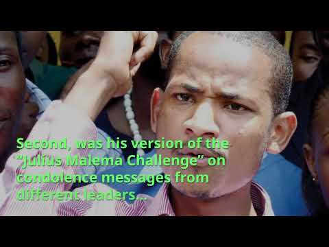 MP Babu Owino sends netizens into a frenzy with his Matiba's condolence & 'Julius Malema Challenge'