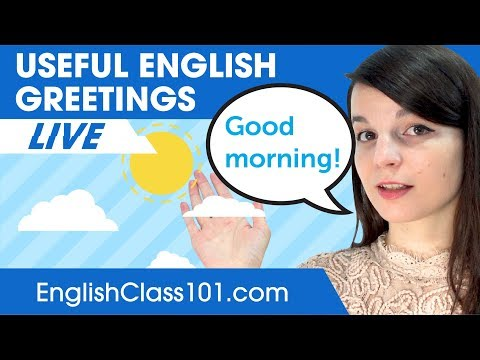 Useful English Greetings For Everyday Life! - Basic English Phrases