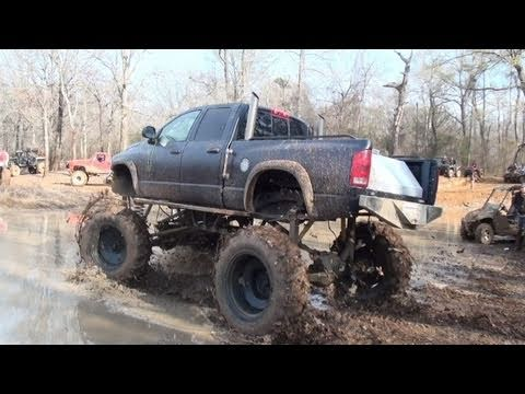 Dodge sinks in mud hole