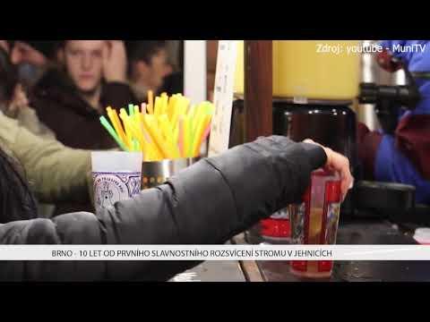 TV Brno 1: 4.12.2017 10 let od prvního slavnostního rozsvícení stromu v Jehnicích