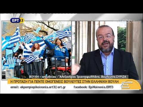 Ο Αλέξανδρος Τριανταφυλλίδης, βουλευτής του ΣΥΡΙΖΑ, στην Επικοινωνία της ΕΡΤ3 | 07/11/2018 | ΕΡΤ