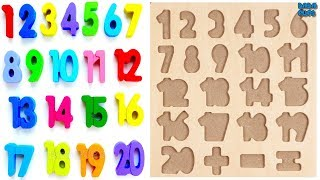 This video for kids, for children, for toddlers. The best videos of learning numbers- CompilationWe are learn to count 1 to 20 with Wooden puzzles (00.03-04.45)We are learn count from 1 to 10 with Biscuit (04.45-06.45)Learn Numbers 1 to 10 with Pillow (06.45-09.30)Wooden puzzles 1-201-telephone2-frogs3-pineapple4 butterflies5-dolphins6 birds7-cats8 strawberries9-points10-Christmas trees11-ladybirds12- Snowmen13-bees14-rings15-star stars16-sheeps17-flowers18 teapots19-berries20-ballsWe are learn count from 1 to 10 with Biscuit1 Biscuit – numbers 22 Biscuit – numbers 103 Biscuit – numbers 54 Biscuit – numbers 45 Biscuit – numbers 16 Biscuit – numbers 97 Biscuit – numbers 68 Biscuit – numbers 09 Biscuit – numbers 810 Biscuit – numbers 711 Biscuit – numbers 3Learn colors with Play DohLearn Numbers 1 to 10 with PillowNumbers 1 2 3 4 5 6 7 8 9 101- Play Doh indigo - number 42-Play Doh beige - number 93-Play Doh lilac - number 74- Play Doh white - number 25- Play Doh yellow - number 36 - Play Doh bright green - number 87 - Play Doh pink - number 18- Play Doh gray - number 69- Play Doh orange - number 510- Play Doh blue-number 10Click to Subscribe to Dada Pups https://www.youtube.com/channel/UC1Sir-iKkghO5SSguzYC2lgSee other interesting videos:https://www.youtube.com/channel/UC1Sir-iKkghO5SSguzYC2lg/videos