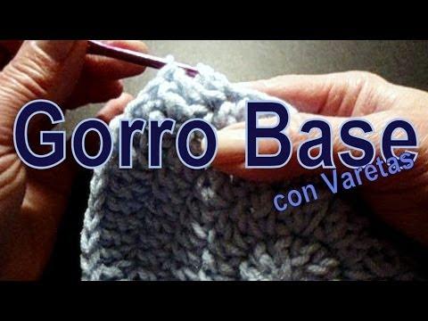 Como tejer un gorro al crochet en pocos minutos (few minutes crochet hat) -tejido para zurdos-