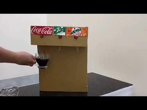 How to make coca- cola 7up mirinda fountain machne with 3 different drinks at home. DIY
